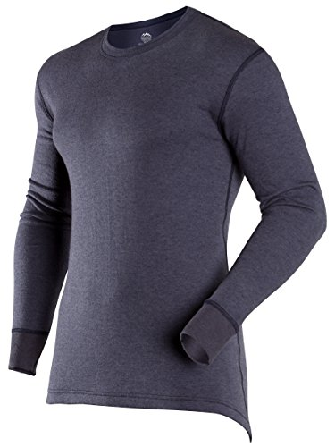 (ColdPruf Men's Authentic Dual Layer Long Sleeve Crew Neck Base Layer Top, Navy, XX-Large Tall)