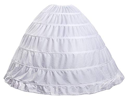 Make you perfect Hoop Skirt Petticoat for Women 6 Hoops Ball Gown Petticoat Crinoline Underskirt?