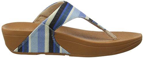 Punta Donna Toe Stripey Sandals Canvas Stripey Aperta Blue Blu Fitflop Sandali 548 Lulu Thong 0wq5zzT