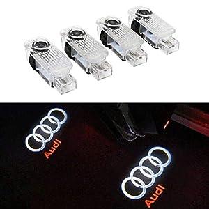 De qualit/é sup/érieure 2 autocollants avec logo Audi pour le contour de voiture Audi En vinyle