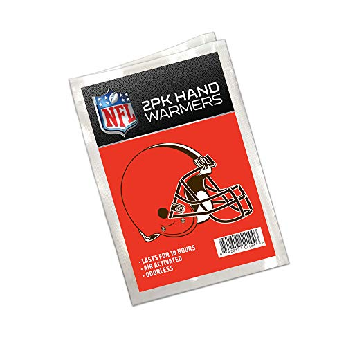 - Worthy Promo NFL Cleveland Browns Winter Hand Warmers 20-Pack (10 Pair). Long Lasting 10-Hour Warmth, Air Activated, Odorless. Gifts for Men, Women. Tailgating Accessories, Stocking Stuffers.