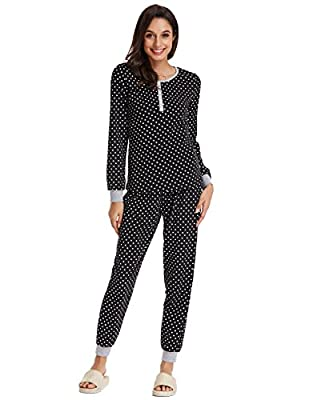 Zexxxy Women Pajamas Sets For Christmas Long Sleeve Scoop Neck Sleepwear ZE0102