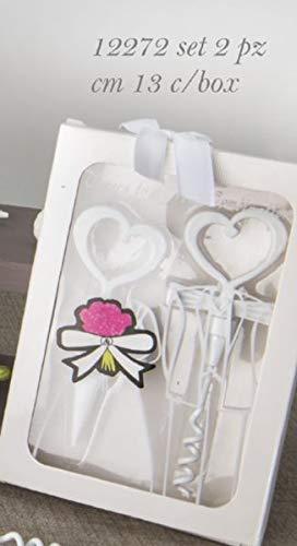 Bomboniere Matrimonio Amazon.White Set Tappo Apribottiglia Vino Cuore Bomboniera Matrimonio
