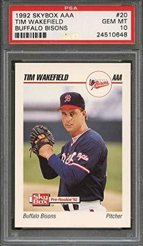 1992 skybox aaa #20 TIM WAKEFIELD boston red sox minor league rookie PSA 10 Graded Card