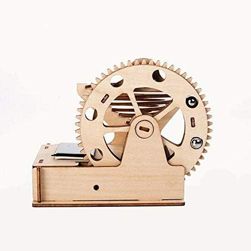 Wooden Waterwheel Coaster Marble Run 3D Puzzle Wood Wheel Coaster