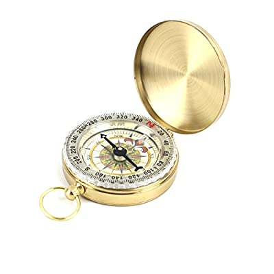 DETUCK(TM Pocket Compass Outdoor Compass Antique Hiking Hunting Camping Survival Compass Metal Compass Tool from DETUCK
