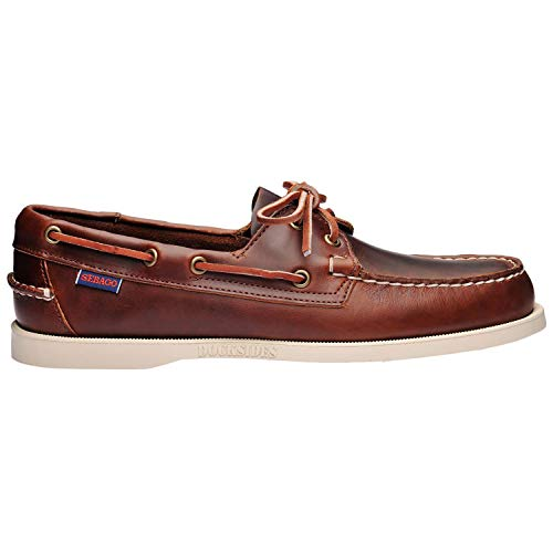 (Sebago Mens Docksides FGL Oiled Waxy Boat Shoes Brown 10.5 US)