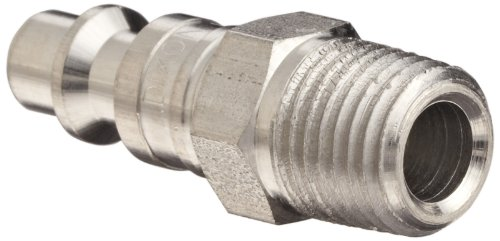 Dixon DCP21S Stainless Steel 303 Air Chief Industrial Interchange Quick-Connect Hose Fitting, Plug, 1/4'' Coupling x 1/4'' NPT Male by Dixon Valve & Coupling (Image #2)
