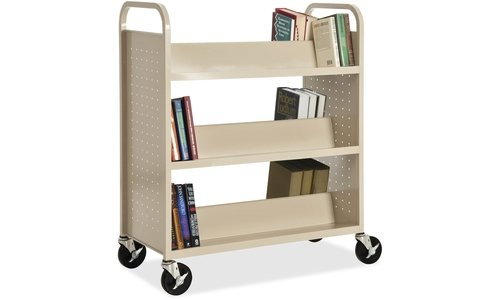 Lorell Double-sided Book Cart by Lorell