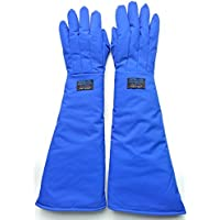 Inf-way 68cm/26.77 Long Cryogenic Gloves Waterproof Low Temperature Resistant LN2 Liquid Nitrogen Protective Gloves Cold Storage Safety Frozen Gloves (Large) by Inf-way
