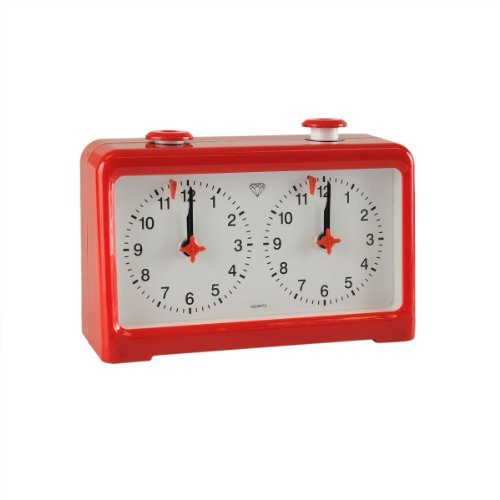 - Wholesale Chess Diamond Quartz Battery Powered Analog Chess Clock - Red by Wholesale Chess