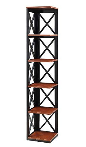 Convenience Concepts 203080CH Oxford Bookcase, Cherry/Black ()