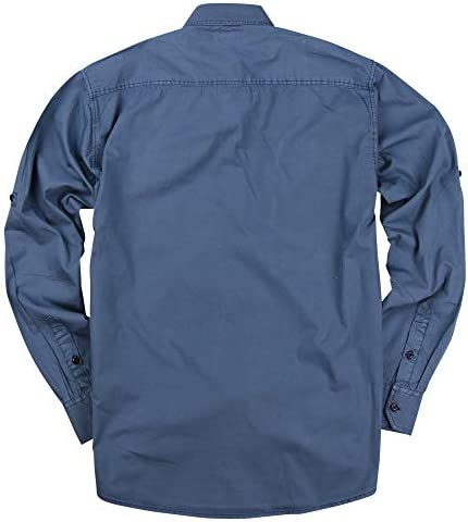 Black Cotton Army Shirt Military Security Mens Long Sleeve 2 Pocket Epaulettes