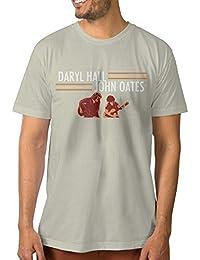 Mens Daryl Hall and John Oates Tour Humor Running Natural Shirts Short Sleeve