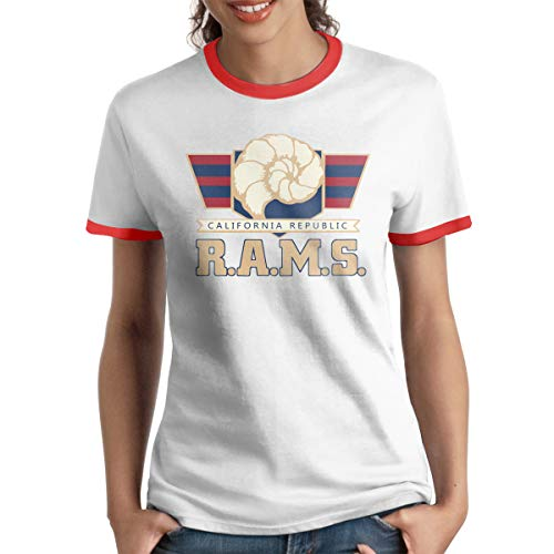 MiiyarHome Women's Ringer T-Shirt Travis Wilson, Ladies Tee Short Sleeves Teen Girls Jersey Shirt Red XXL