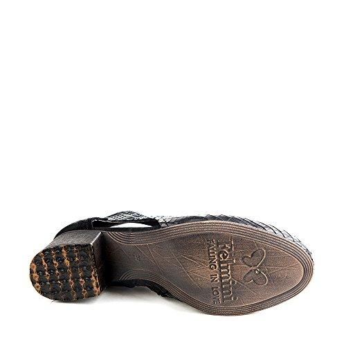 Felmini - Zapatos para Mujer - Enamorarse com Hermes 9538 - Botas con tacones - Cuero Genuino - Negro - 0 EU Size Negro