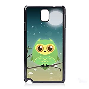 Case Fun Green Owl by DevilleART Snap-on Hard Back Case Cover for Samsung Galaxy Note 3 (N9000 N9002 N9005)