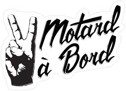 Stickers Motard /à Bord Gris