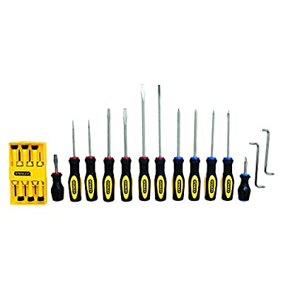 Stanley 60-220 Standard Fluted Screwdriver Set, 20 Piece from Stanley Tools