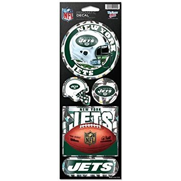 - WinCraft NFL New York Jets Prismatic Stickers, Team Color, One Size