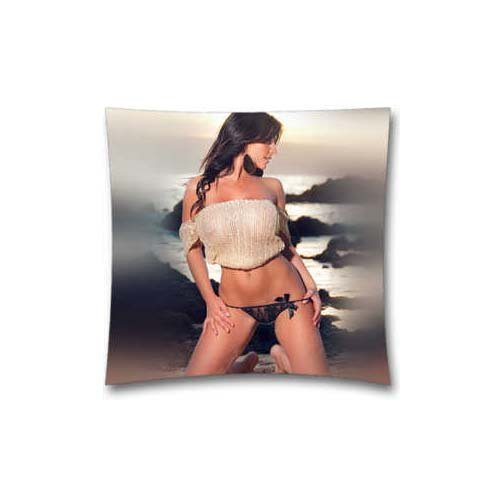 Mama Bikini Girl Sexy Beach Sea Model Cotton & Polyester 18x18 inch Square Throw Pillow Cushion Covers