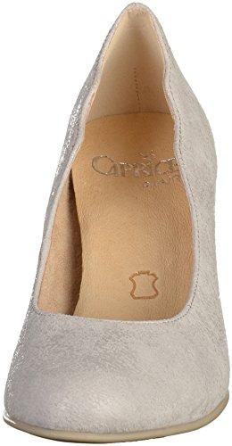 Caprice 22406, Zapatos de Tacón para Mujer LT GREY SUEDE