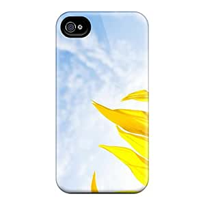 Hot Snap-on Nature Flowers Bright Sunflower Hard Cover Case/ Protective Case For Iphone 4/4s