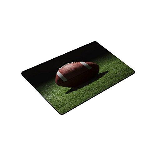 Artsadd Door Mat College Style Football On Grass Field At Night Indoor/Outdoor Decor Rug Non-woven Fabric Doormat 18'' (W) x 30'' (L)
