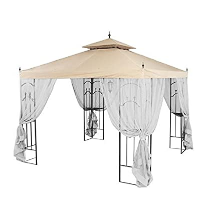 garden winds replacement canopy for home depots arrow gazebo with rip lock technology - Garden Winds Gazebo