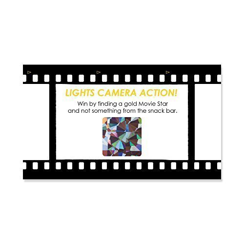 Big Dot of Happiness Movie - Hollywood Party Game Scratch Off Cards - 22 Count ()