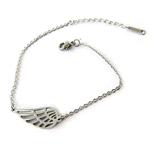 Creator bracelet 'Les Ailes D'ange' silver gray.