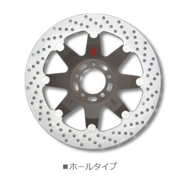 ZRX400/Ⅱ '94-'08 FRONT BRAKE DISK ROTOR Neo classic Hole type right side LV201WR   B01MED5GR2