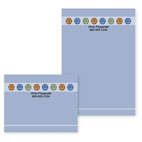 Personalized Note Teacher (Paw Print Circles Personalized Post-it Notes - 4