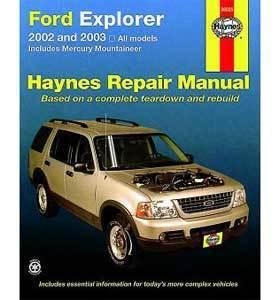 Haynes Publications, Inc. 36025 Repair Manual - 2002 Mercury Mountaineer Manual