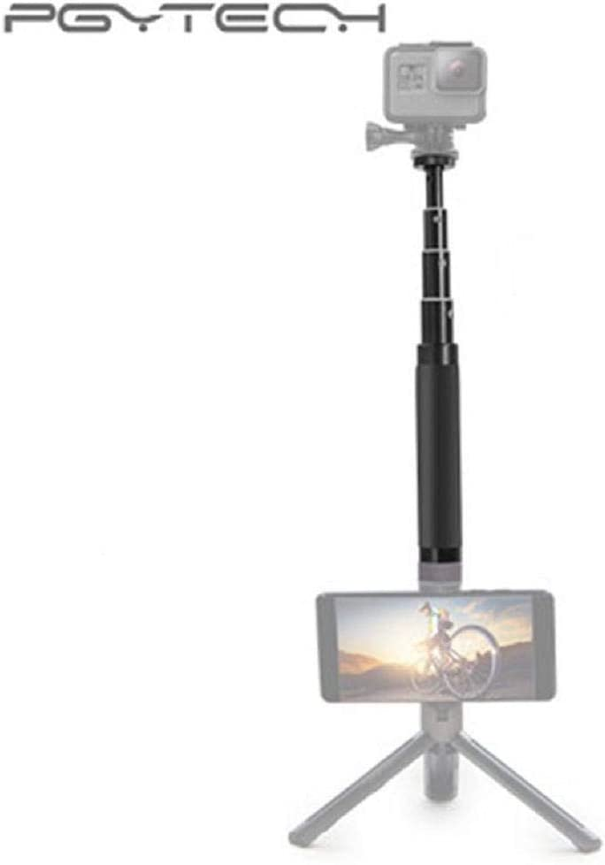 Black Selfie Stick for Camera,Zhaowei for PGYTEC Handheld Gimbal Extension Rod Scalable Stick for DJI Action 4K Camera