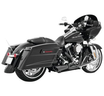 (Freedom Performance HD00643 Black Combat 2-Into-1 Shorty for 2017-Newer Harley-Davidson M8 Touring Models)