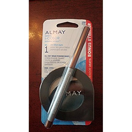Almay Intense i-Color Evening Smoky for Blue Eyes 150 All Day Wear Powder Shadow & Bonus Eyeliner