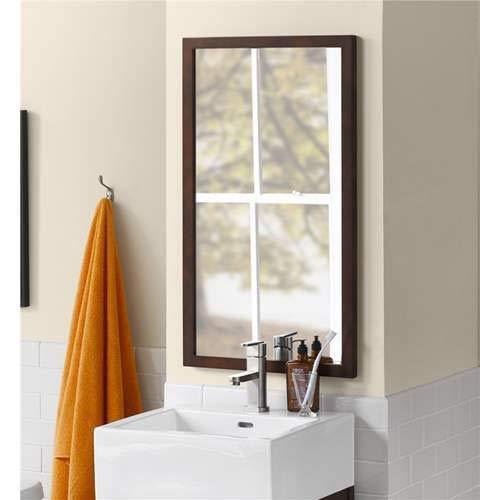Ronbow Unlighted Bathroom Mirror 600118-F07 Vintage Walnut