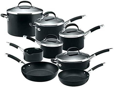 Circulon Premier 13 Piece Hard Anodised Induction Cookware Set, Black: Amazon.de: Küche & Haushalt