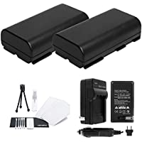 BP-911 / BP-911K / BP-914 / BP-915 Battery 2-Pack Bundle with Rapid Travel Charger and UltraPro Accessory Kit for Select Canon Camera Models