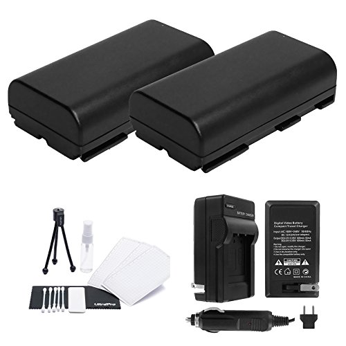 Bp 915 Lithium Ion Battery - BP-911 / BP-911K / BP-914 / BP-915 Battery 2-Pack Bundle with Rapid Travel Charger and UltraPro Accessory Kit for Select Canon Camera Models