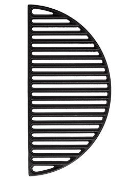 (Aura Outdoor Products Half Moon Cast Iron Reversible Grate for Large Big Green Egg or Any 18 Inch Grill)