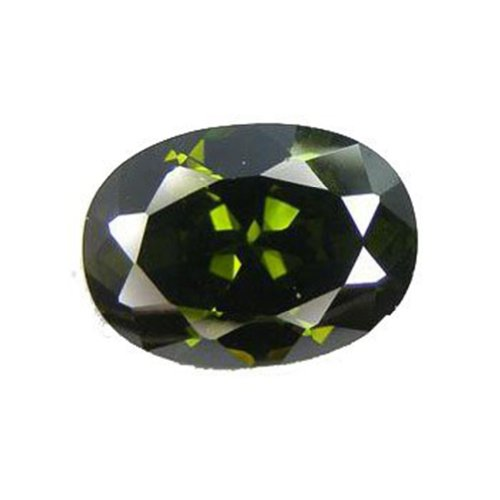 Cz Olive Green Oval Unset Loose Manmade 18mm X 13mm (Qty=1)