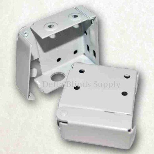 High Profile Box Mounting Bracket Set - White! (Mounting Brackets For Wood Blinds compare prices)