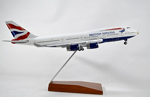 GeminiJets British Airways Boeing 747-400 Diecast Airplane Model victoRIOus G-CIVA With Stand 1:400 Scale Part# (British Airways Boeing 747)
