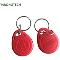YARONGTECH-125khz rewritable T5577 Red rfid keyfobs tag for hotel key-10pcs