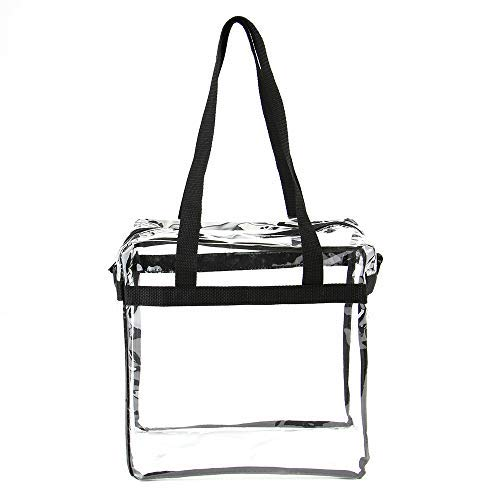 Jomparo 12''X12''X6'' Clear Tote Bag Stadium Approved Perfect for NCAA NFL PGA Work Sports Games by Jomparo (Image #4)