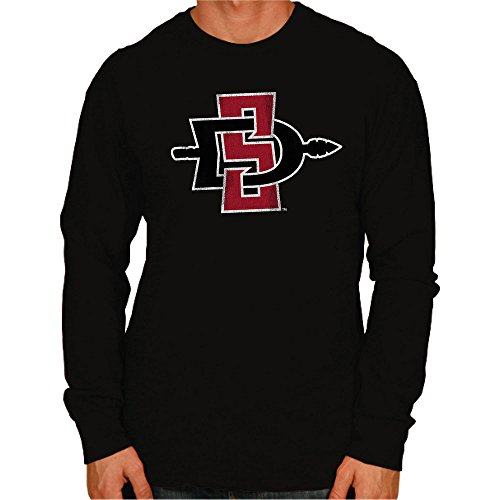 Original Retro Brand NCAA San Diego State Aztecs Men's Long Sleeve Tee, X-Large, ()