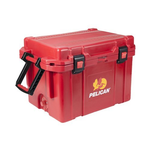 PELICAN 45 quart ProGear Elite Cooler, Red For Sale