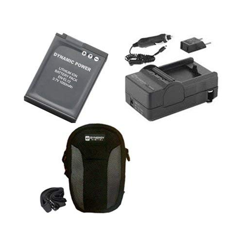 Nikon Coolpix S6000 Digital Camera Accessory Kit includes: SDENEL12 Battery, SDM-197 Charger, SDC-22 Case